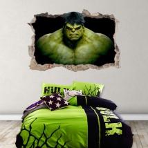 Stickers and vinyls 3d hulk