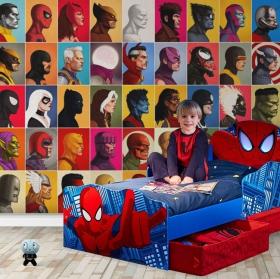 Marvel vinyl wall murals