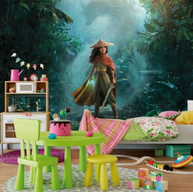 Vinyl wall murals raya and the last dragon