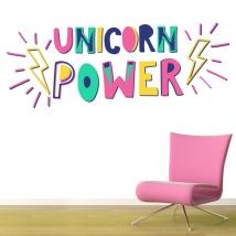 Decorative vinyl unicorn power