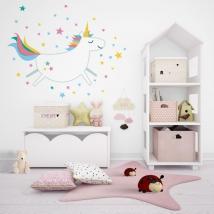 Decorative vinyl unicorn with stars