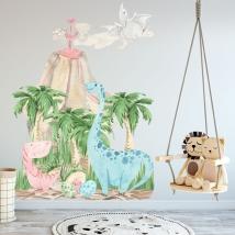 Decorative vinyl dinosaurs for babies