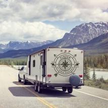 Vinyls caravans phrase traveling is daydreaming
