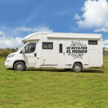 Vinyls motorhomes rose of the winds of route around the world
