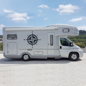 Motorhome stickers compass rose