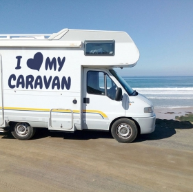 Motorhome stickers phrase i love my caravan
