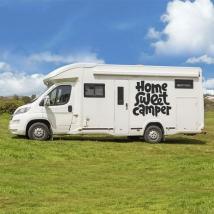 Motorhome stickers phrase home sweet camper