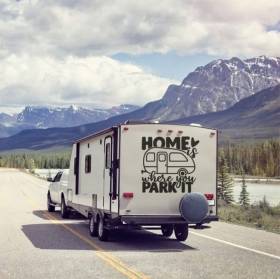 English phrase stickers for caravans
