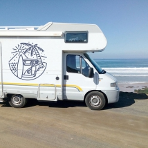 Decorative vinyls and stickers for motorhomes surfing