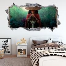 Decorative vinyls 3d hole raya and the last dragon