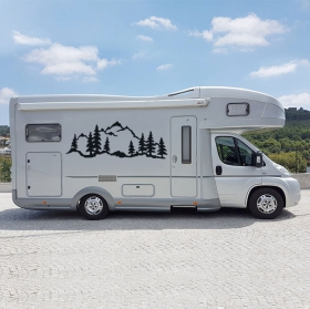 Vinyls and stickers motorhomes landscape with mountains
