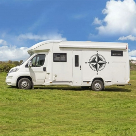 Vinyls and stickers compass rose for motorhomes