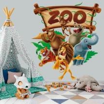 Vinyls and stickers zoo animals