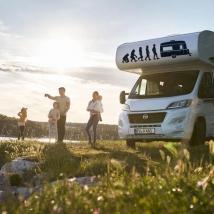 Decorative vinyl caravans evolution