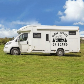 English phrase stickers for motorhomes