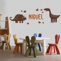 Vinyl with custom names and dinosaurs