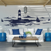 Decorative vinyls and stickers lighthouse at sea