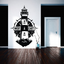 Vinyls and stickers lighthouse and compass rose