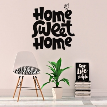 Vinyl with english phrase home sweet home