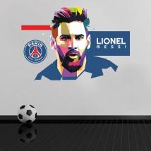 Vinyl lionel messi paris saint-germain football