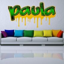 Decorative vinyl graffiti custom names