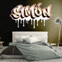 Graffiti vinyl stickers with personalized names