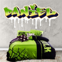 Vinyls and stickers personalized texts graffiti effect