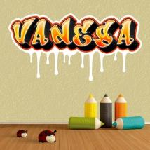 Custom graffiti names stickers