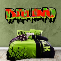 Graffiti effect vinyl with personalized name