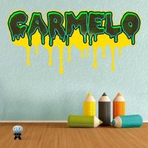 Custom name graffiti effect stickers