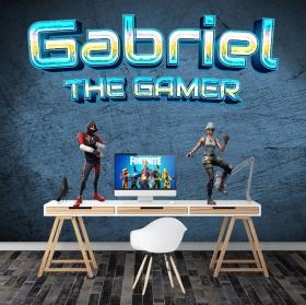 Vinyl custom name and phrase the gamer