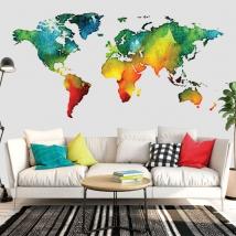 Vinyls colored world map