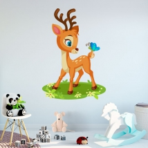 Children's vinyls bambi and butterfly