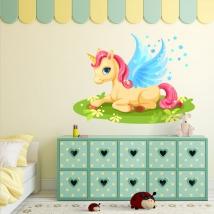 Decorative vinyls and stickers magical unicorn