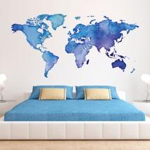 Colorful world map wall sticker