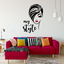 Vinyls and stickers woman face my style