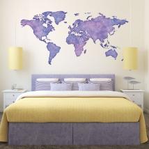 Colorful world map vinyls