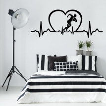 Vinyls and stickers rugby electrocardiogram