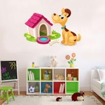 Children's vinyls dog at home