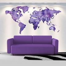 Decorative vinyls colored world map