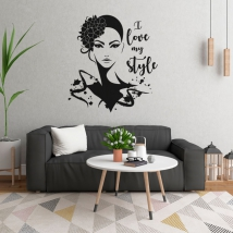 Vinyls woman's face i love my style