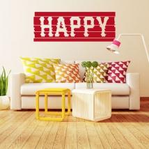 Decorative vinyls and stickers happy