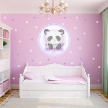Youth or children's vinyls panda bear