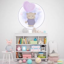 Vinyl for children or babies bear with balloon