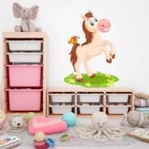 Children's vinyls horse and butterfly