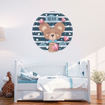 Vinyl and stickers for children or babies romantic bear