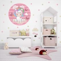Children's or youth vinyls romantic unicorn
