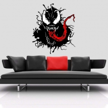 Decorative vinyl venom marvel