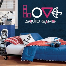 Decorative vinyls and stickers netflix love squid game