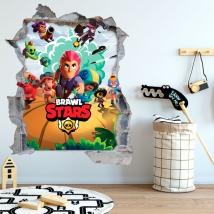 Decorative vinyls and stickers 3d brawl stars